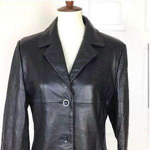 Kasper Leather Black Jacket